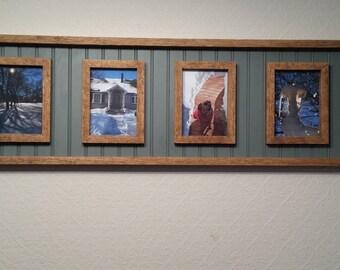 Oak & Beadboard 4 Picture Frame