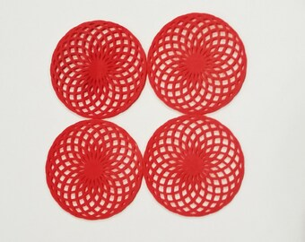 3d printed spirograph coaster set