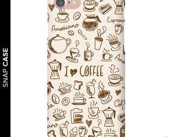 Coffee Phone Case, I Love Coffee Phone Case, iPhone 7 Coffee Case, Coffee iPhone Case, Samsung Phone Case, Samsung Case, Coffee Case, Coffee
