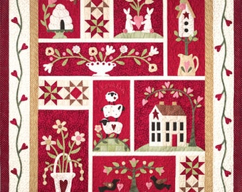 The Quilt Company From the Heart Applique & Piecing Pattern Set -9 patterns