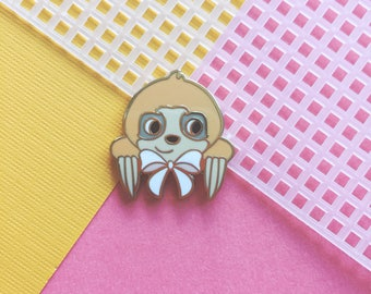 Ginger the Pocket Sloth Hard Enamel Lapel Pin