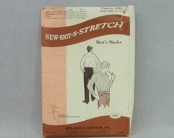 1971 Pattern - Men's Slacks Pants - Kerstin Martensson - Uncut Sew Knit n Stretch 322 - 30 32 34 waist - Vintage 1970s Sewing Pattern
