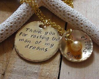 Necklace Charm Mother In Law Gift-Daughter in Law Gift-Mothers Day -Mother in Law Necklace Charm-Wedding-Mother of the Groom-Bride