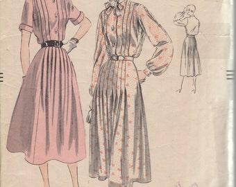 Bust 34-1950's MIsses' Dress Vogue 7013 Size 16