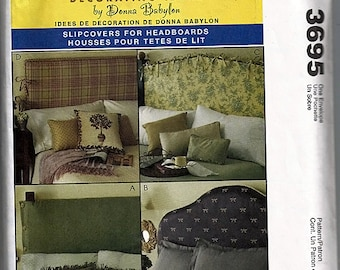 Slipcovers For Headboards / Original McCall's More Splash Than Cash Decorating Ideas Uncut Sewing Pattern 3695