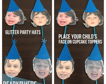 Personalized Cupcake Topper Face Photo Cupcake Topper Face Personalized Topper