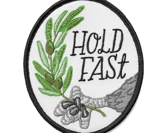 Hold Fast Eagle Claw and Olive Branch Patch