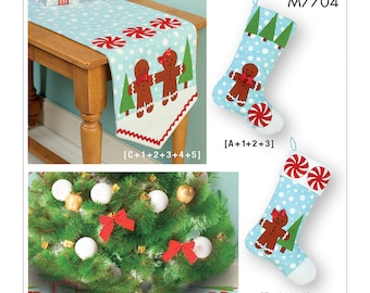McCall's Pattern M7704 Stockings, Runner, and Tree Skirt Holiday Decorations
