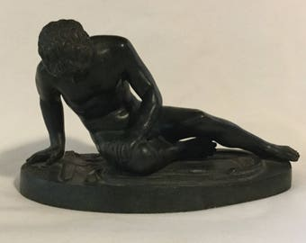 """Antique Late 19th Century """"Dying Gaul"""" Bronze Statue"""