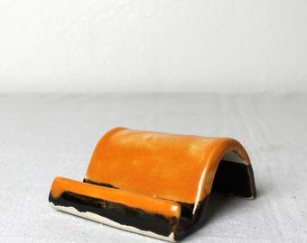 Stoneware Sunset Smart Phone and Business Card Holder Handmade Pottery