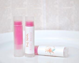 ACAI Berry LIP TINT - Lip Balm - Natural Chapstick - Pink Lip Tint - Sheer Lip Tint