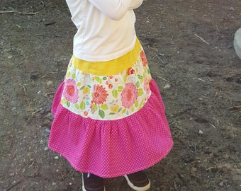Girls 3 tiered skirt