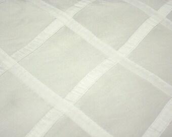 CLOSEOUT FABRIC - Royalton Striped  Dress Apparel - White - 1.5 Yard