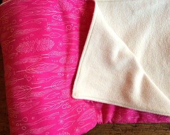 Soft Organic Cotton Baby Blanket. Bright Forest