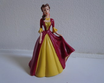 Disney Princess Belle in Ball Gown Vinyl Toy Figure Happy Meal Style Novelty Cake Topper Decoration, Mini Decopac Collectible
