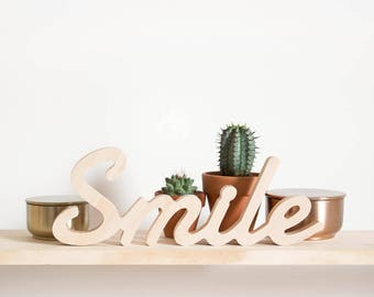"Wooden Figure ""Smile"""