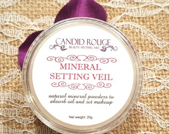 Mineral Setting Veil, Finishing Powder, Oil Absorbing Natural Powder - Candid Rouge
