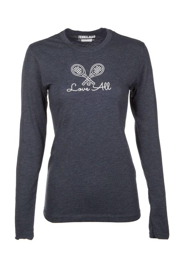 Tennis Love All Tshirt, Pink Tshirt, Tennis.see™ Tshirt, Love all Shirt, Pink Tennis Shirt, Grey Tennis Top, Tennis Shirt, Grey Long sleeve