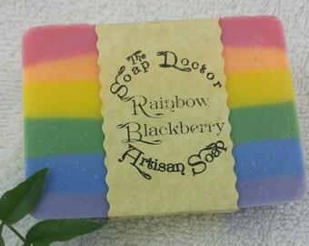Rainbow Blackberry Soap