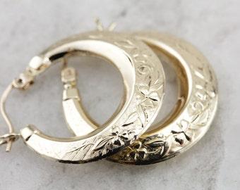 Ancient and Timeless: Vintage Gold Hoop Earrings  DU8AYP-N