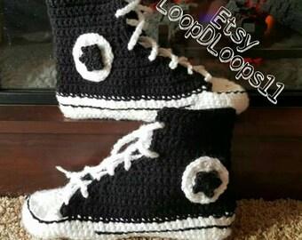 Women's converse slippers crochet pattern