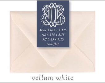 Vellum White | 10 Blank Euro Envelopes | A7 • A2 • RSVP
