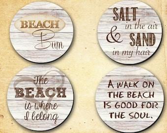 Coasters - Beach Theme 1 - Hostess Gifts, Wedding, Home warming or just for the heck gifts. 0026