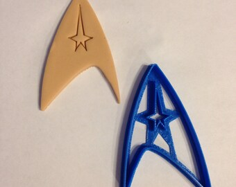 Captains Badge Starfleet Insignia Star Trek Cookie Cutter