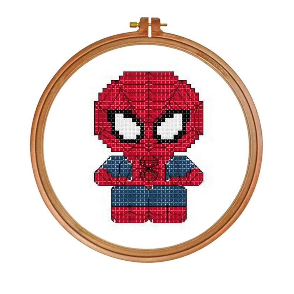 Spiderman cross stitch patterncute spidermanmodern cross stitch this is a digital file jeuxipadfo Images