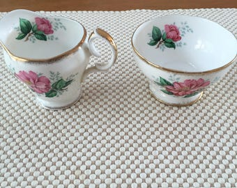 Queen Anne cream and sugar set