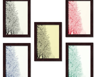 """""""Natura"""" series posters-snow-covered trees. Digital printing 18 x 24 cm"""