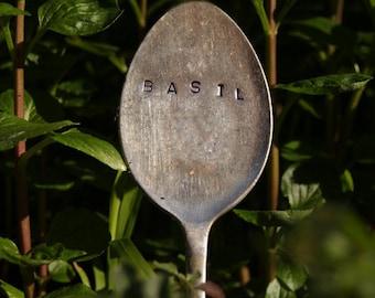 Vintage Silver Spoon Garden Marker - Single Herb