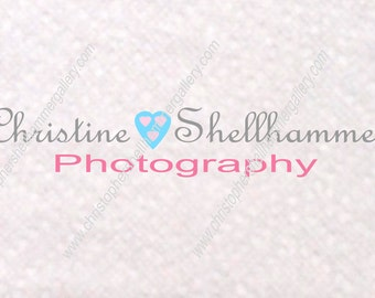Do it yourself Premade Fine Art Logo Blue Pink Heart Promo For Limited Time Low Price, for Photography or Shop, Instant Download PSD File