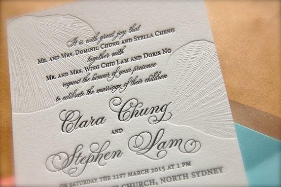 Wedding Invitation Wording For Monetary Gifts: Aqua And Sand Tan Nautical Letterpress Wedding Invitations