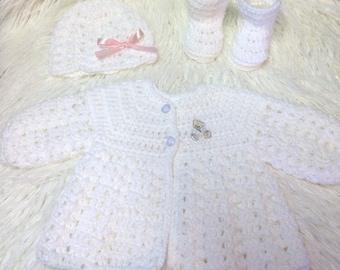 newborn layette set 3pc