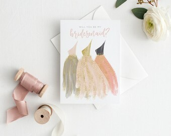 Bridesmaid Proposal Card, Will You Be My Bridesmaid Card, Bridesmaid Gift