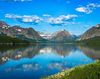 Reflect: Glacier National Park Nature Landscape Photograph Print for Decoration