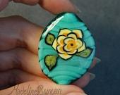Yellow Tattoo Style Rose ...