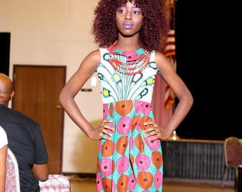 Girl's Ankara Dress - Xss