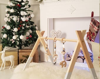 Wooden baby gym / Activity center / Baby mobile / Nursery decor / JUST FRAME