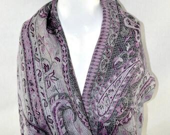 Turkish Pashmena Scarf Vintage Pattern - Soft and Warm