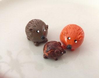 Mini marble Hedgehog of Hedgehog Bog shown in Family Mom Dad Baby Grandma Grandpa Grandchildren Choose two colors