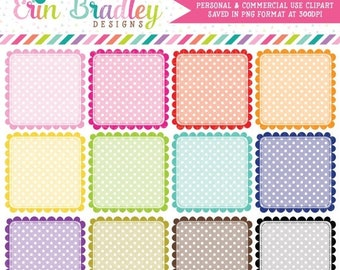 80% OFF SALE Polka Dotted Squares Clipart Instant Download Digital Clip Art Graphics Personal & Commercial Use