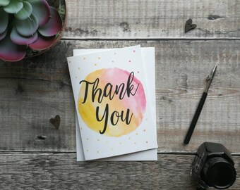Thank You - Greeting Card - Note