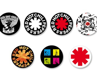 Lot Pins Ø25mm - o38mm Pinback Button Badge / Magnet o38mm Red Hot Chile Peppers Rock USA