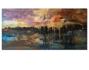 Landscape Painting, Living Room Canvas Art, Abstract Painting, Canvas Painting, Large Art, Abstract Art, Original Art, Wall Art, Painting