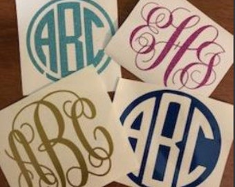 Monogram Decals l Choose your size, color  and style