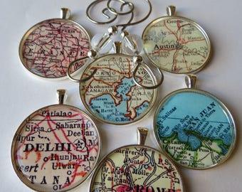 Christmas Tree Ornaments, Christmas Decoration, Ornaments Handmade, Ornament Gift, Set of City Ornaments, Paris France, San Juan Puerto Rico