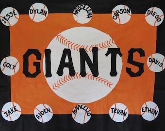 baseball / softball sports team banners- personalized