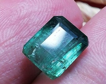 3.55 CTs Total Faceted BLUE FADE Tourmaline • 9.4 mm •  From Afghanistan 6563